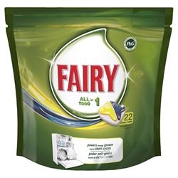 Εικόνα της Fairy caps πλυντηρίου πιάτων λεμόνι 22 τεμαχίων