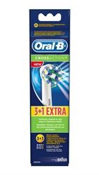 Εικόνα της Oral-b ανταλλακτικά cross action για ηλεκτρική οδοντόβουρτσα 3 τεμ +1 τεμ.δώρο
