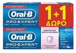 Εικόνα της ORAL-B  OΔΟΝΤΟΚΡΕΜΑ PRO EXPERT  SENSITIVE & WHITE 75ml 1+1 ΔΩΡΟ