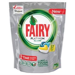 Εικόνα της Fairy caps platinum πλυντηρίου λεμόνι 37 τεμαχίων