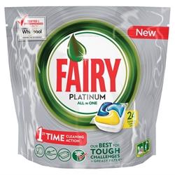 Εικόνα της Fairy caps platinum πλυντηρίου πιάτων λεμόνι 24 τεμαχίων