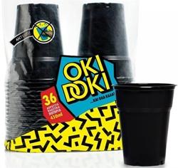 Εικόνα της Ποτήρι πλαστικό μαύρο Oki Doki 430ml (36τεμ)