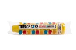 Εικόνα της Ποτήρι πλαστικό κίτρινο thrace cups 300ml (50τεμ)