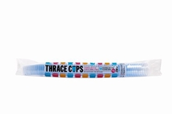 Εικόνα της Ποτήρι πλαστικό γαλάζιο thrace cups 250ml (50τεμ)