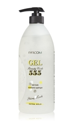 Εικόνα της farcom 555 Beauty Code Styling Gel  Extra Hold, Wet Look 600 ml