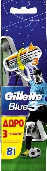 Εικόνα από GILLETTE ΞΥΡΑΦAΚΙΑ ΜΙΑΣ ΧΡΗΣΗΣ  BLUE 3 8ΤΕΜΑΧΙΩΝ (5+3 ΔΩΡΟ)