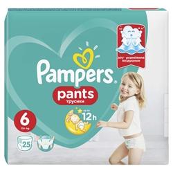 Εικόνα της ΠΑΝΕΣ PAMPERS PANTS  No 6 (16+ KG)ΣΥΣΚΕΥΑΣΙΑ 25 ΤΕΜ.VP