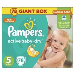 Εικόνα της ΠΑΝΕΣ  PAMPERS ACTIVE BABY DRY  No 5 (11-18 KG) ΣΥΣΚ. 78 ΤΕΜ.GIGA