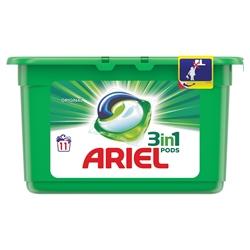 Εικόνα της Ariel pods 3-1 υγρές κάψουλες πλυντηρίου original 11 τεμαχίων