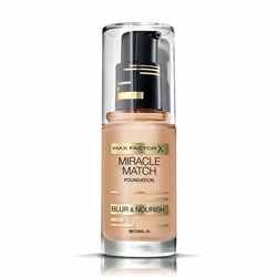 Εικόνα της Max Factor Miracle Match Foundation Blur & Nourish 50 Natural (30ml)