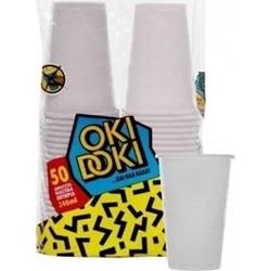 Εικόνα της Ποτήρι πλαστικό διάφανο Oki Doki 240ml (50τεμ)