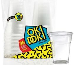 Εικόνα της Ποτήρι πλαστικό λευκό Oki Doki 430ml (36τεμ)