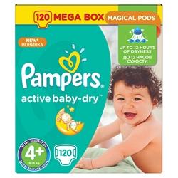 Εικόνα της ΠΑΝΕΣ  PAMPERS ACTIVE BABY DRY  No 4+  (9-16 KG) ΣΥΣΚ. 120 ΤΕΜ.MEGA