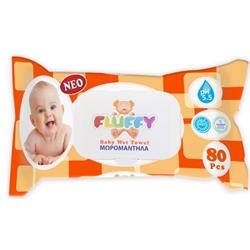 Εικόνα της fluffy μωρομάντηλα fliptop 80τεμ.με καπάκι