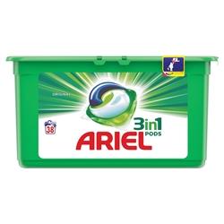 Εικόνα της Ariel pods 3-1 υγρές κάψουλες πλυντηρίου original 38 τεμαχίων