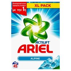 Εικόνα της Ariel σκόνη πλυντηρίου alpine 45 μεζούρες