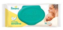 Εικόνα της Pampers wipes newbaby sensitive 50 τεμαχίων