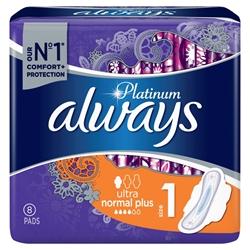 Εικόνα της Always σερβιέτα platinum ultra normal plus 8 τεμαχίων