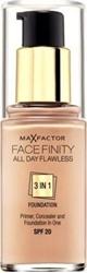Εικόνα της Max Factor Facefinity All Day Flawless 3 In 1 Foundation SPF20 55 Beige 30ml