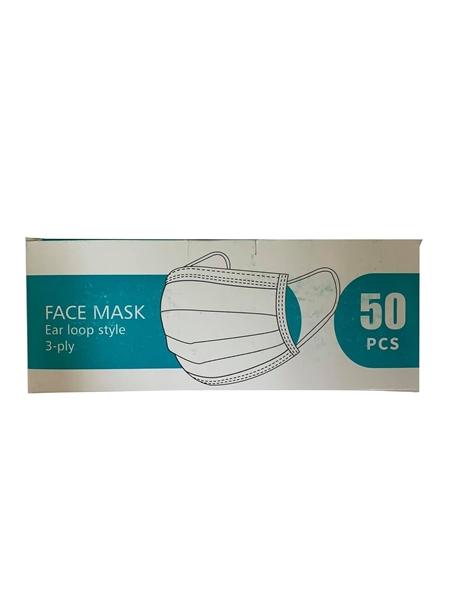 Εικόνα από face mask ear loop style 50 pcs /Μάσκα Προσώπου Χειρουργική 3ply 50τμχ