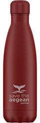 Εικόνα της Estia Travel Flask Save The Aegean Red Matte 0.5lt