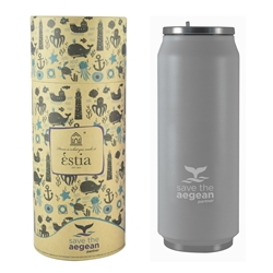 Εικόνα της Estia Travel Cup Save The Aegean Grey Matte 0.5lt
