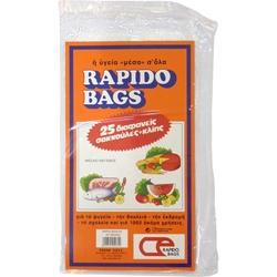 Εικόνα της RAPIDO BAGS ΣΑΚΟΥΛΕΣ ΤΡΟΦΙΜΩΝ N2 ΜΕΣΑΙΕΣ 25 ΤΕΜ