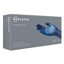 Εικόνα της Mercator Vinyl Powder Free Μπλε 100τμχ